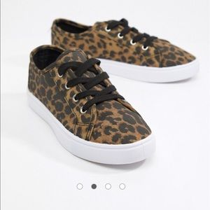 ASOS Leopard Lace Up Sneakers